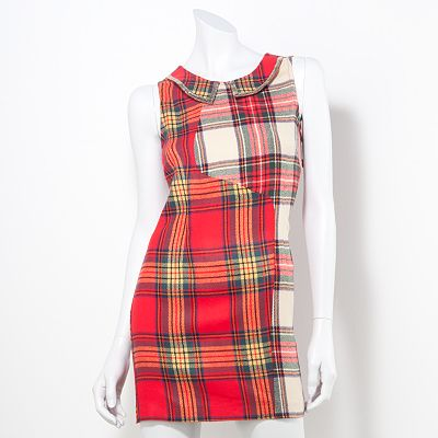 Princess Vera Wang Plaid Sequin Dress - Juniors