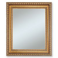 Alpine Lucia Gold Finish Wall Mirror