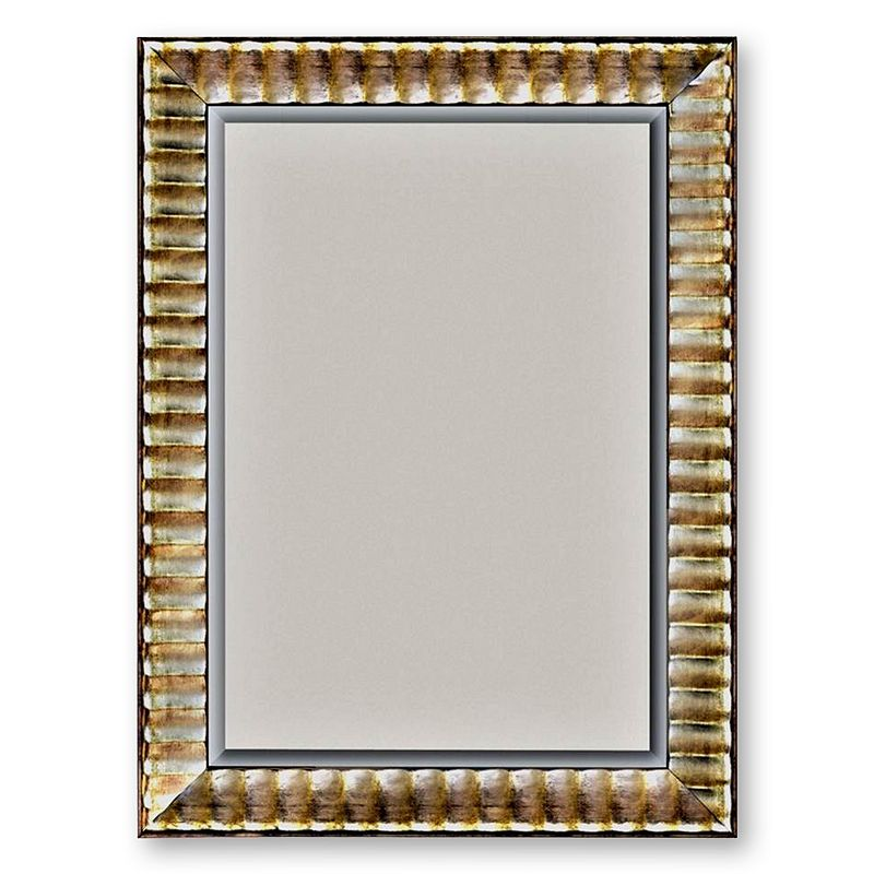 Alpine Silver-Tone Rivauge Beveled Wall Mirror