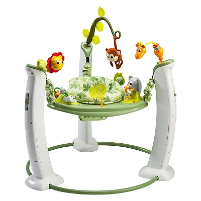 Evenflo ExerSaucer Jump and Learn Stationary Jumper Safari Friends Developmental Toy