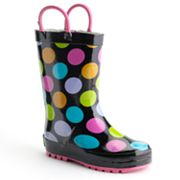 Western Chief Multi Dotty Rain Boots - Toddler Girls