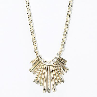 Simply Vera Vera Wang Gold Tone Simulated Crystal Bib Necklace