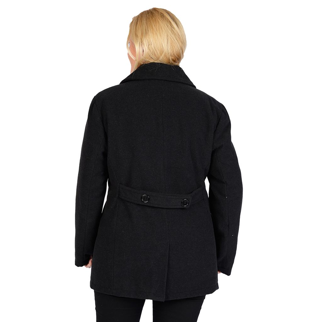 Plus Size Excelled Solid Peacoat