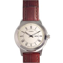 Timex Men's Leather Watch - T2E581
