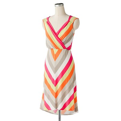 Apt. 9 Striped Hi-Low Dress - Petite
