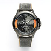 Armitron Gunmetal Stainless Steel Leather Watch - 20/4859ORGMGY - Men