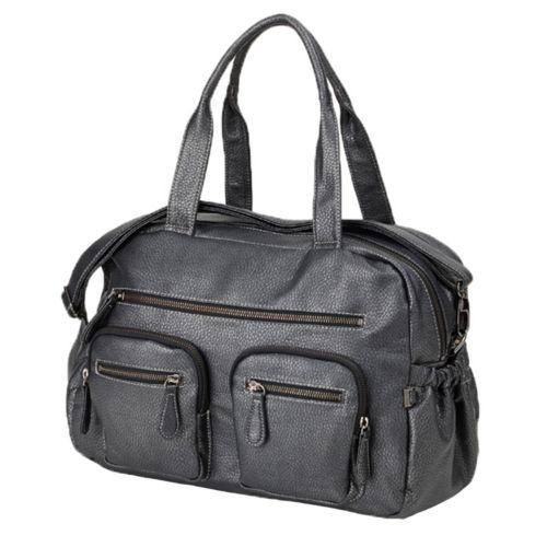 OiOi Faux Buffalo Carry-All Diaper Bag