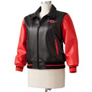 Excelled Betty Boop Faux-Leather Letterman Jacket - Women's Plus