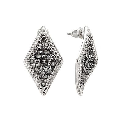 Jennifer Lopez Silver Tone Simulated Crystal Kite Earrings