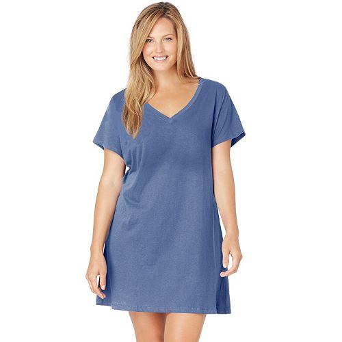Plus Size Jockey Pajamas: Solid Sleep Shirt
