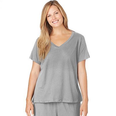 Jockey Solid Pajama Tee - Women's Plus