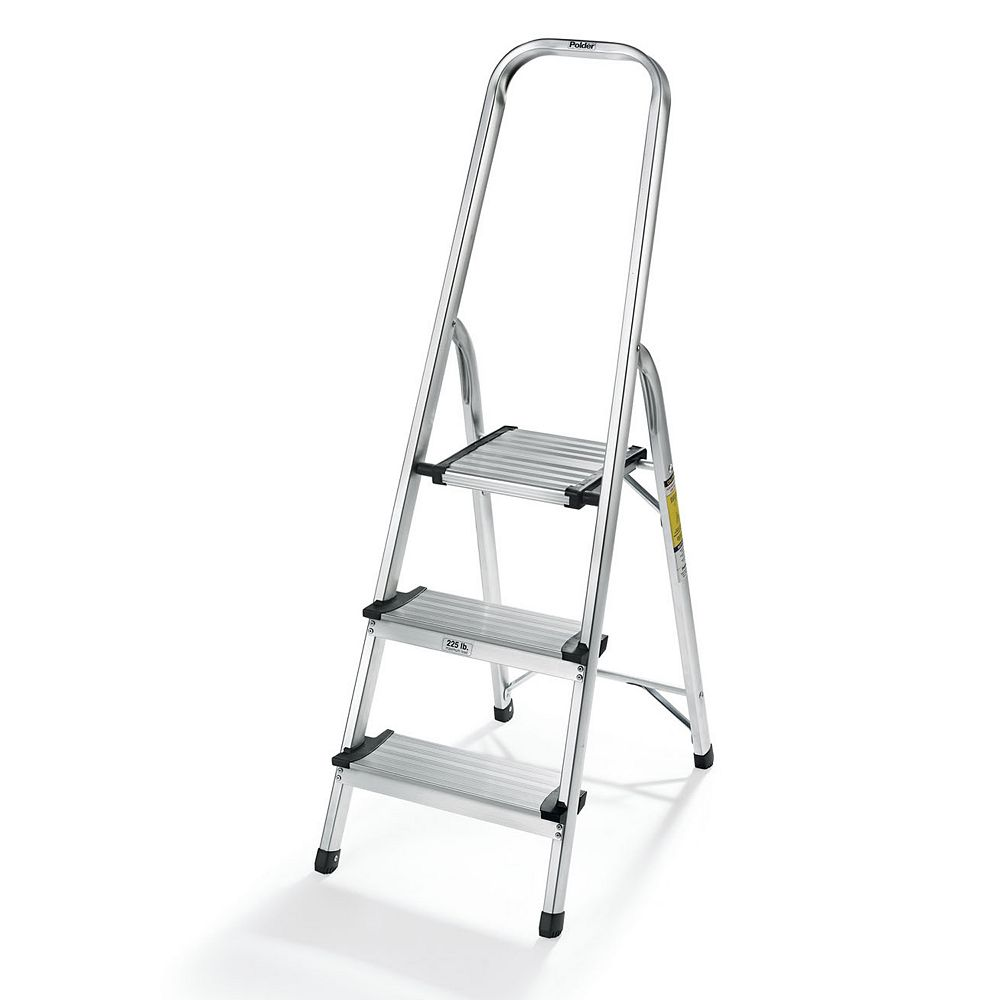 Polder 3-Step Lightweight Aluminum Ladder