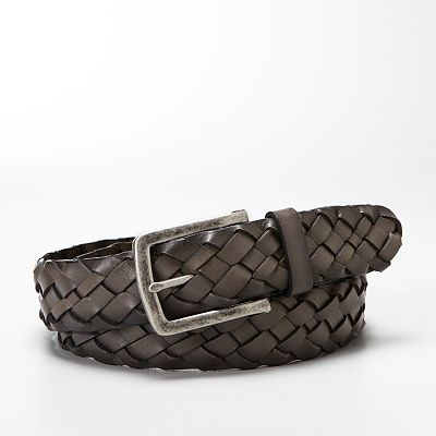 Relic Buffalo-Braided Leather Belt