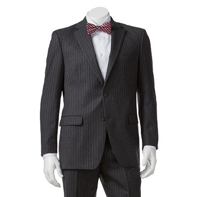 Chaps Striped Wool Cashmere Suit Jacket