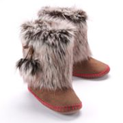 Mudd Faux-Fur Bootie Slippers