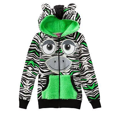 Self Esteem Neon Zebra Hoodie - Girls 7-16