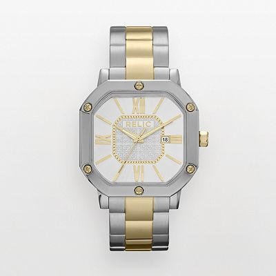Relic Auburn Two Tone Stainless Steel Watch - ZR77243 - Men