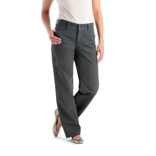 Lee Slimming Straight-Leg Trouser Pants- Women's