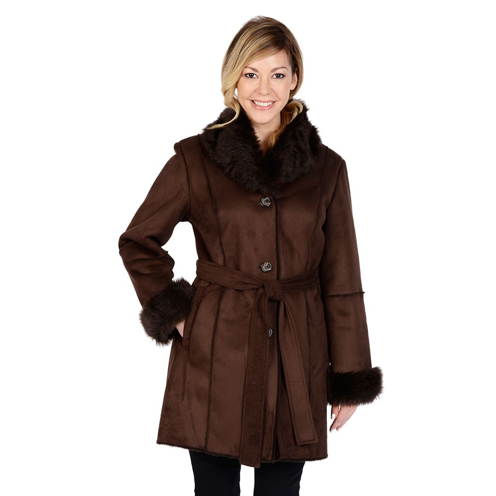 Women's Excelled Faux-Shearling Coat