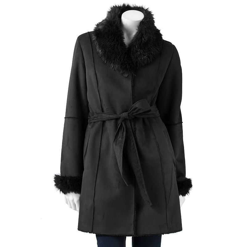 R and O Faux-Shearling Coat