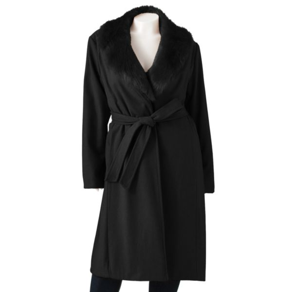 R and O Long Wool Coat Women,s Plus