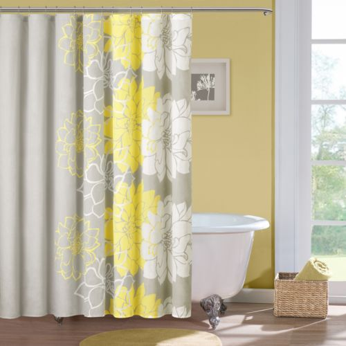 Madison Park Floral Cotton Shower Curtain