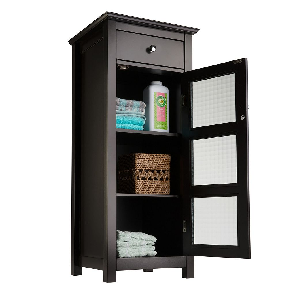 Elegant Home Fashions Chesterfield Floor Cabinet With Drawer
