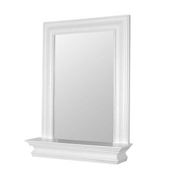 Elegant Home Fashions Stratford Shelf & Framed Wall Mirror