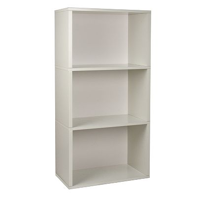 Way Basics Eco-Friendly Modular Plus 3-Shelf Bookcase