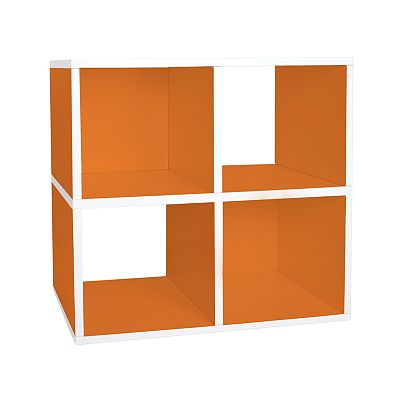 Way Basics Eco-Friendly Modular Quad Storage Cube