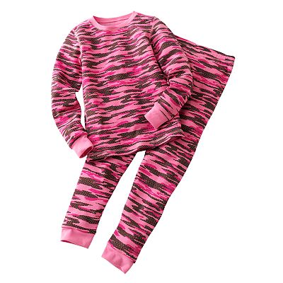 Cuddl Duds Camouflage Thermal Long Underwear Set - Girls