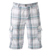Helix Plaid Cargo Shorts - Men