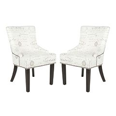 Safavieh 2-pc. Lotus White Gray Side Chair Set