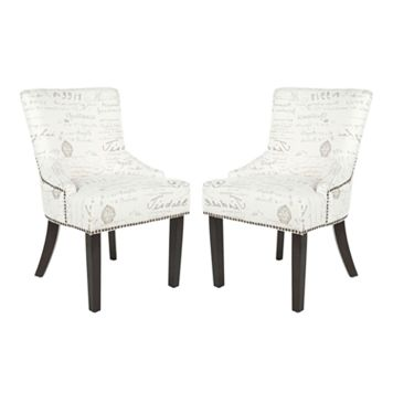 Safavieh 2-pc. Lotus White Gray Side Chair Set