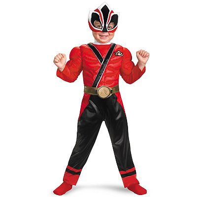 Power Rangers Red Samurai Ranger Muscle Chest Costume - Toddler