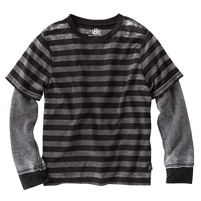 Rock and Republic Mock-Layer Striped Tee - Boys 4-7x