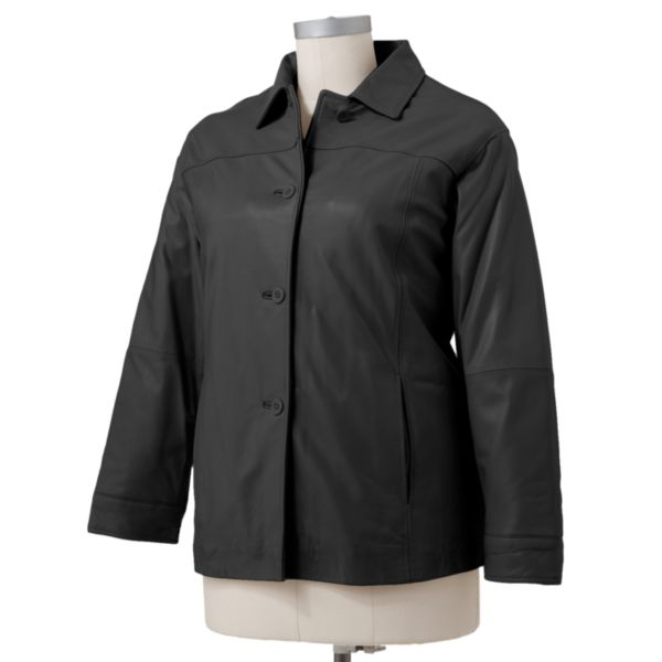 Excelled Leather Coat Women,s Plus