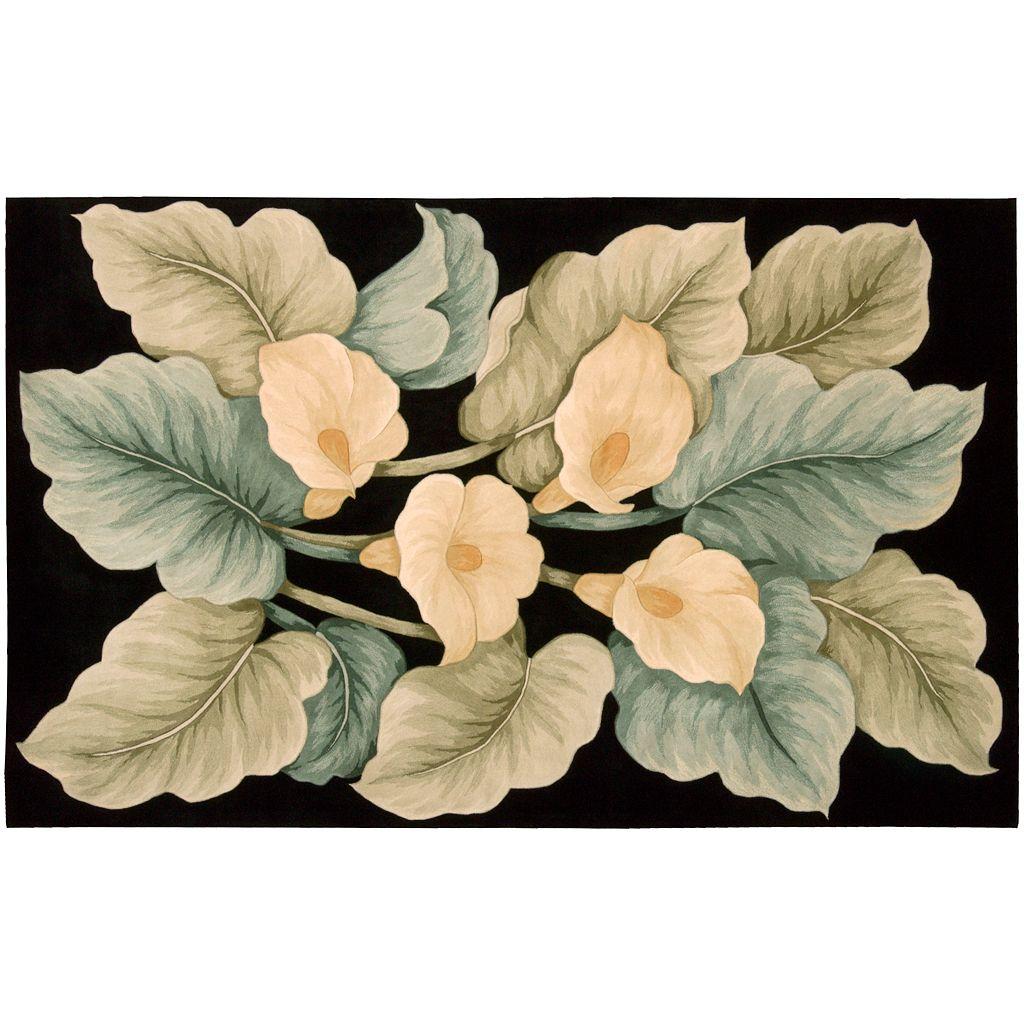Nourison Tropics Floral Wool Rug - 3'6