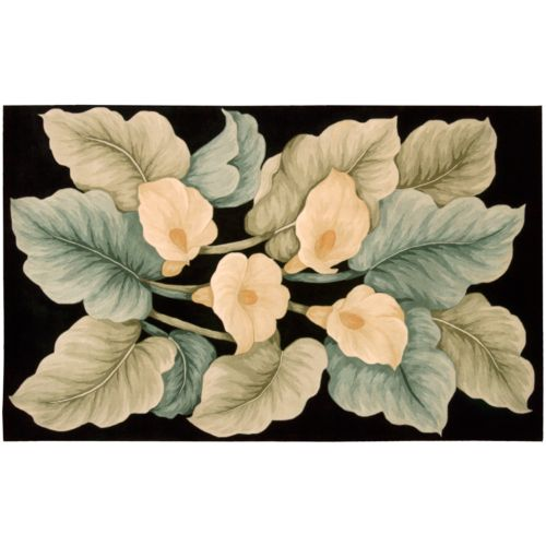 "Nourison Tropics Floral Wool Rug – 5'6"" x 7'5"""