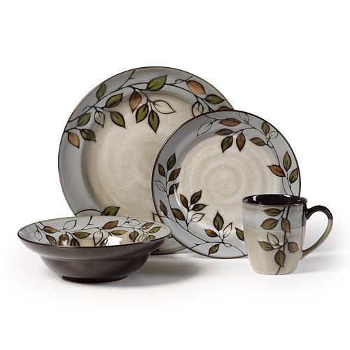 Pfaltzgraff Rustic Leaves 16 Pc Dinnerware Set