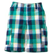 SONOMA life + style Plaid Cargo Shorts - Boys 4-7x