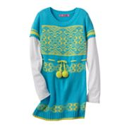 Energie Mock-Layer Fairisle Tunic Sweater - Girls 7-16