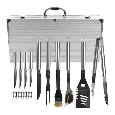 Trademark Home 18-pc. Heavy-Duty BBQ Set