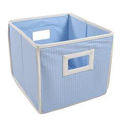 Badger Basket Waffle-Weave Folding Storage Cube