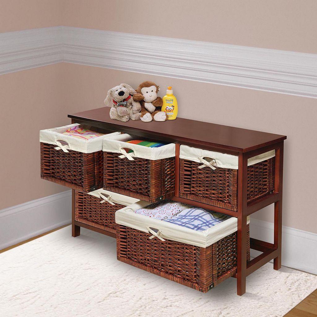 Badger Basket Five-Basket Storage Unit
