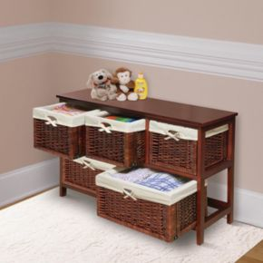 Badger Basket Five-Basket Storage Unit
