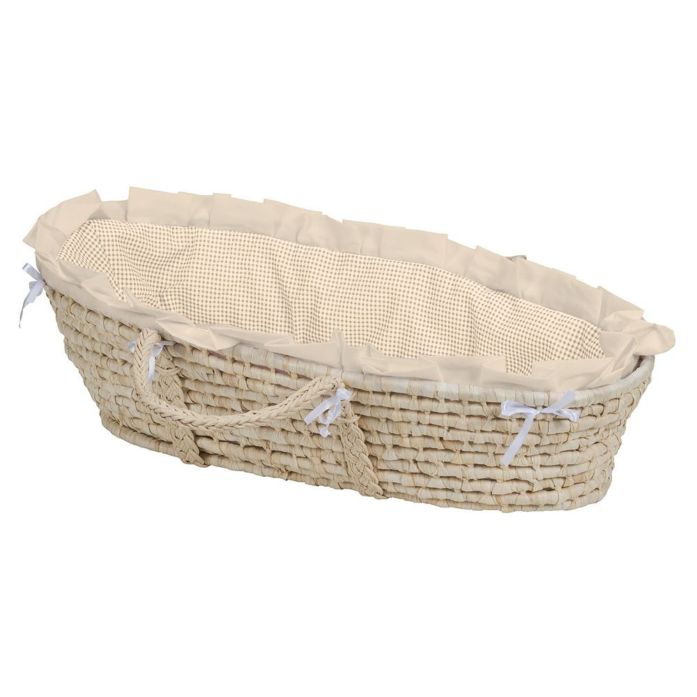 Badger Basket Gingham Moses Basket