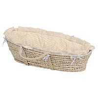 Badger Basket Gingham Moses Basket