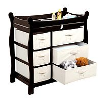 Badger Basket Sleigh Basket Changing Table Dresser