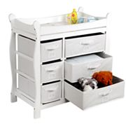 Badger Basket Sleigh Basket Changing Table